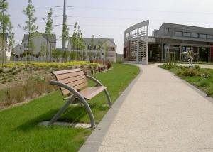 banc bois metal courbe Design - Aménagements Urbain pour Collectivités - Jean-Paul Husson