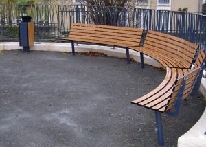 banc courbe design - Aménagements Urbain pour Collectivités - Jean-Paul Husson