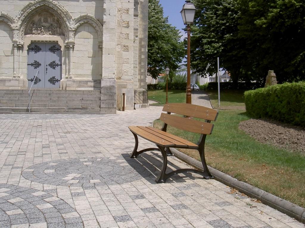 banc metal et bois - Aménagements Urbain pour Collectivités - Jean-Paul Husson