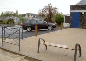 Ensemeble Mobilier urbain design metal et bois - Aménagements Urbain pour Collectivités - Jean-Paul Husson