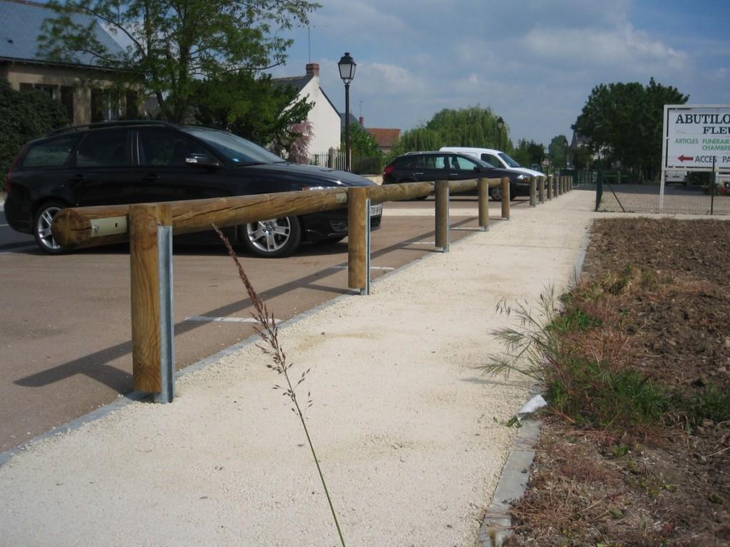 Barrière de Parking - Aménagements Bois pour Collectivités - Jean-Paul Husson