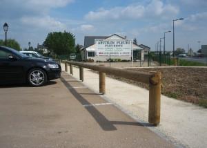 Barrière bois de parking - Aménagement Extérieur