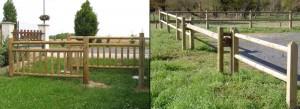 Barrière Bois - Aménagement Bois Exterieur pour collectivité - G.Rondino - jean-Paul Husson