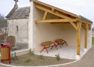 Ensemble mobilier bois metal design - Aménagements Urbain pour Collectivités - Jean-Paul Husson