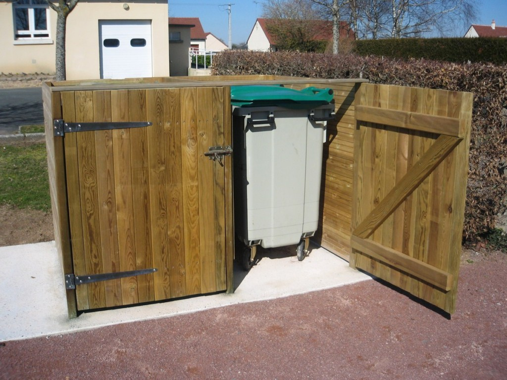 Local poubelle - Aménagements Bois pour Collectivités - Jean-Paul Husson