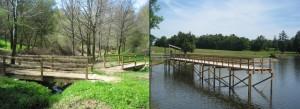 Pont et Ponton Bois - Aménagement Bois Exterieur pour collectivité - G.Rondino - jean-Paul Husson