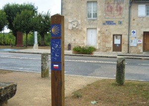 Poteau bois de signalisation - Aménagements Bois pour Collectivités - Jean-Paul Husson