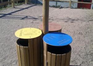 Poubelle bois deco - Aménagements Bois pour Collectivités - Jean-Paul Husson