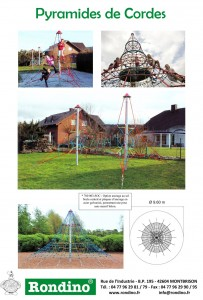 Pyramides de cordes - Rondino -Jean-Paul Husson - Aménagement pour collectivités