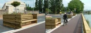 Jardinière bois - Jean-Paul Husson - Aménagement Bois pour collectivité