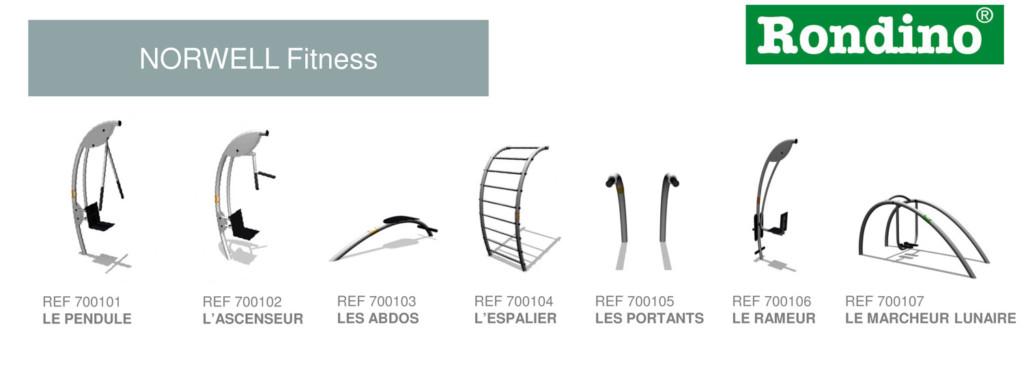 Appareil de fitness exterieur - Norwell - Rondino - Jean-Paul Husson - Aménagements pour collectivités