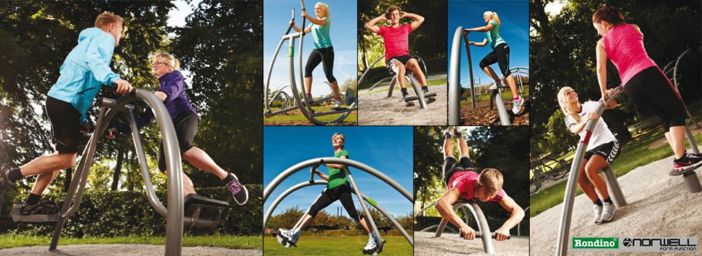 Appareils de fitness exterieur - Norwell - Rondino - Jean-Paul Husson - Aménagements pour collectivités.