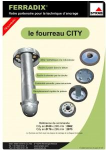 Fourreau City - Solution pour ancrage de mobilier urbain - Ferradix - Jean-Paul Husson - Aménagement et équipement pour collectivité