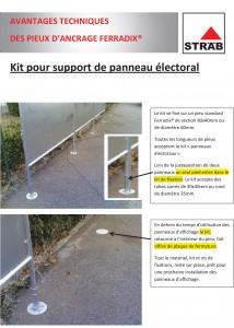 Kit pour support de panneau electoral - Solution pour ancrage de mobilier urbain - Ferradix - Jean-Paul Husson - Aménagement et équipement pour collectivité