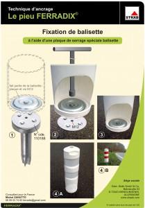 Plaque pour Balissette - Solution pour ancrage de mobilier urbain - Ferradix - Jean-Paul Husson - Aménagement et équipement pour collectivité