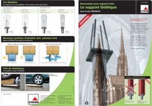 Support Gothique - Solution pour ancrage de mobilier urbain - Ferradix - Jean-Paul Husson - Aménagement et équipement pour collectivité