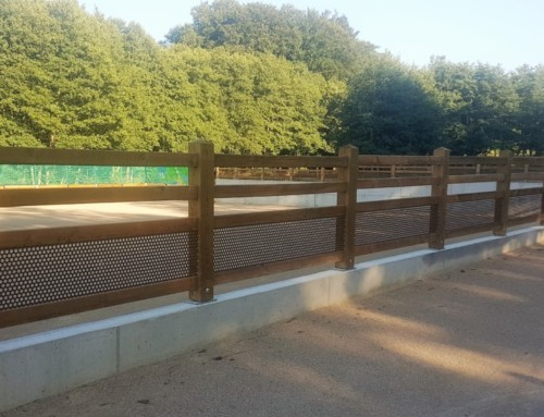 Aménagement extérieur clôture  métal bois