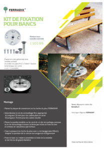 KIT POUR BANC FERRADIX - JP HUSSON AMENAGEMENT POUR COLLECTIVITE