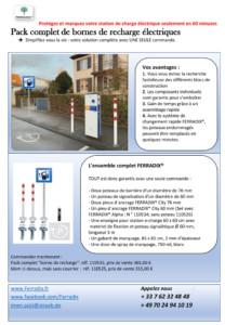 Pack Borne de recharge FERRADIX- JP HUSSON AMENAGEMENT POUR COLLECTIVITE